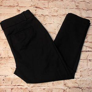 LOFT Pants - Women's Julia  black crop dress slacks